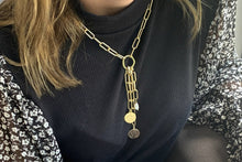 Load image into Gallery viewer, Tana Gold Multi Detachable Pendant Chunky Chain Necklace