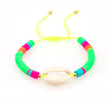 Load image into Gallery viewer, Neon Shell Bracelet