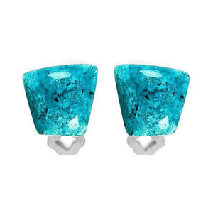 Cleopatra Clip-On Earrings Teal