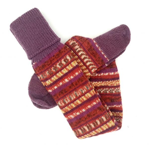 Fairisle Short Socks Size 9-10