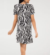 Load image into Gallery viewer, Ruffle Hem Animal Print Dress