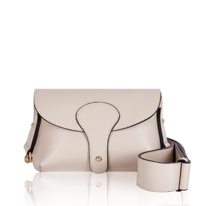 Saskia Leather Ecru Body Bag