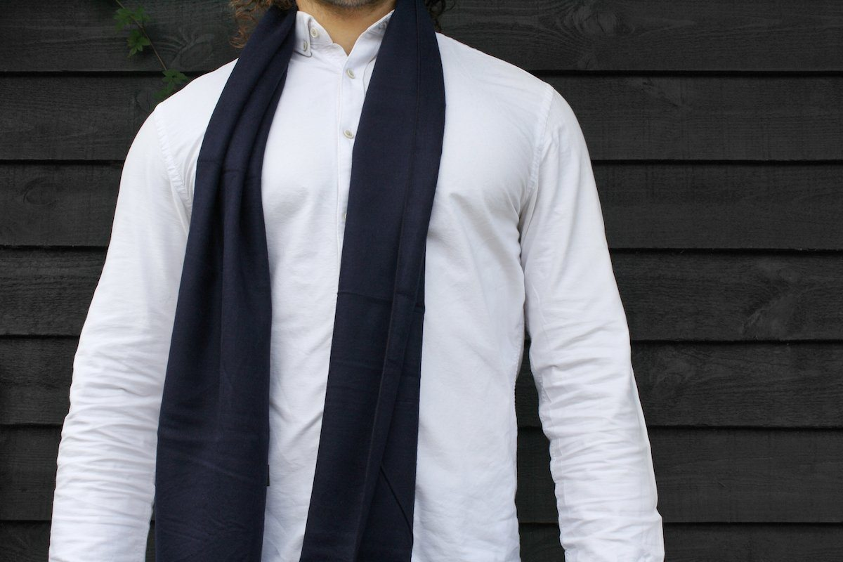 Navy Bamboo Scarf