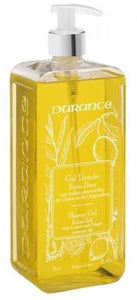 Durance Large Shower Gel 750ml with pump - Lemon & Ginger