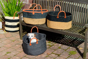 Extra Wide Sisal Baskets, in Graphite