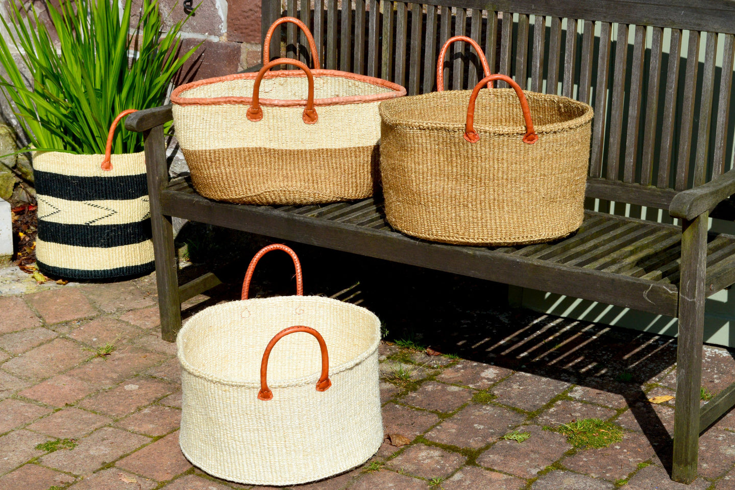 Extra Wide Sisal Baskets, in Naturals