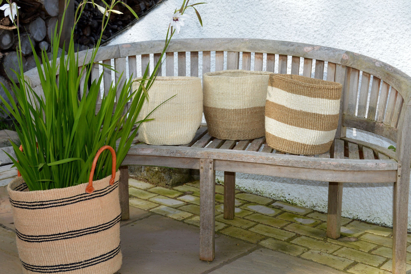 Sisal Bins, in Neutral Colours (group 1)