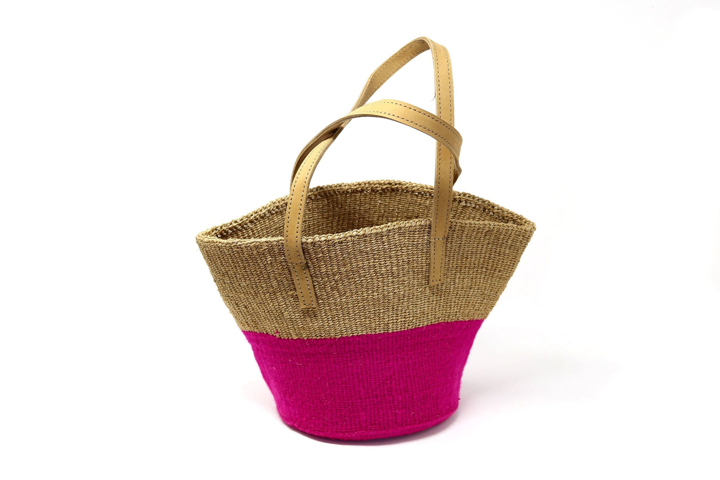 Sisal and Wool Bucket Bags from The Niro Collection - various colours