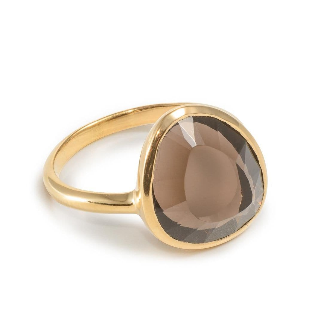 Smoky Quartz Vermeil Ring