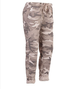 Stone Camo Ruched Joggers