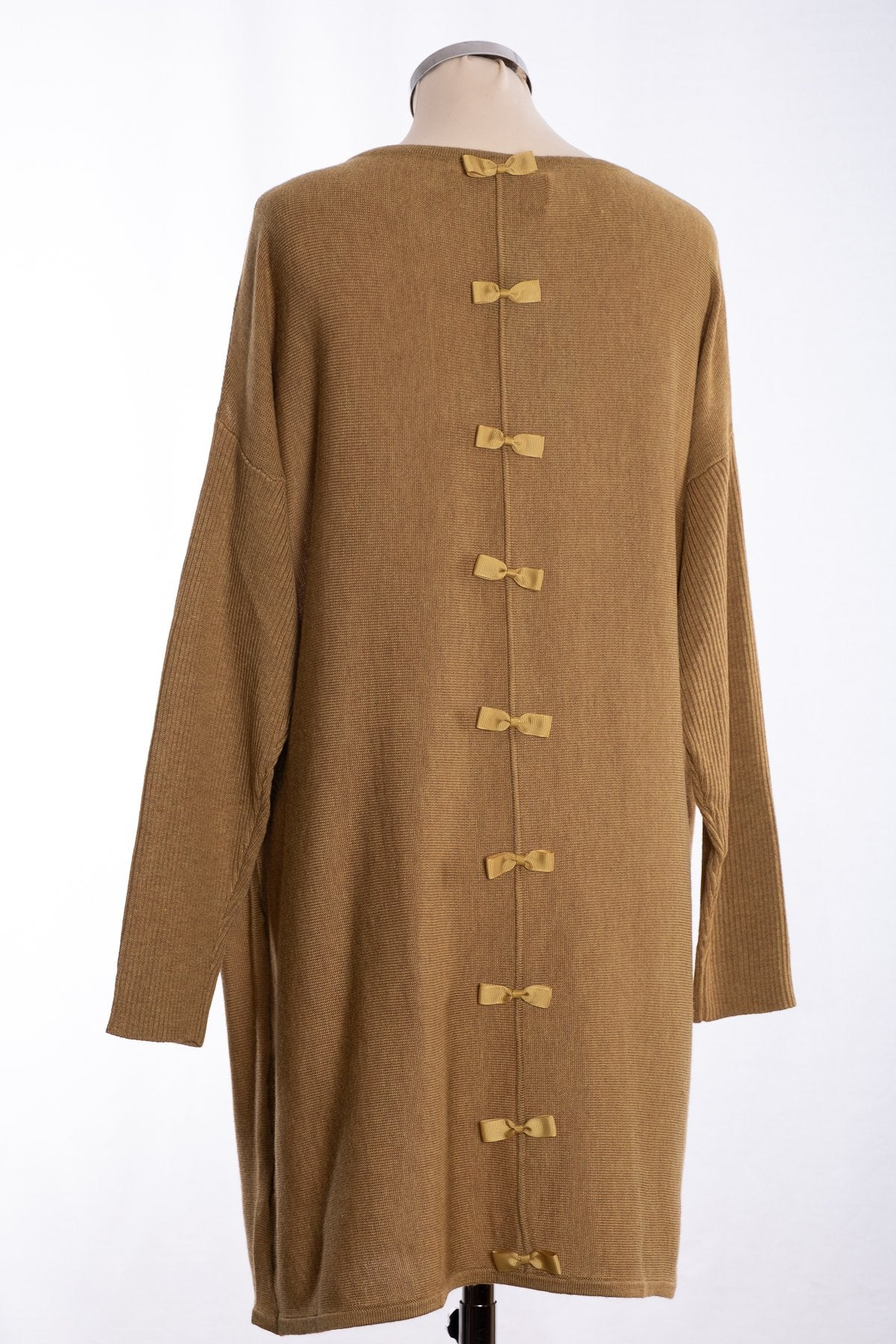 Bow backed tunic, pale olive