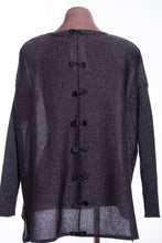 Load image into Gallery viewer, Bow back jumper, black sparkle