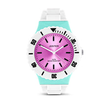 Load image into Gallery viewer, Turquoise and Pink Water Resistant Jester Watch