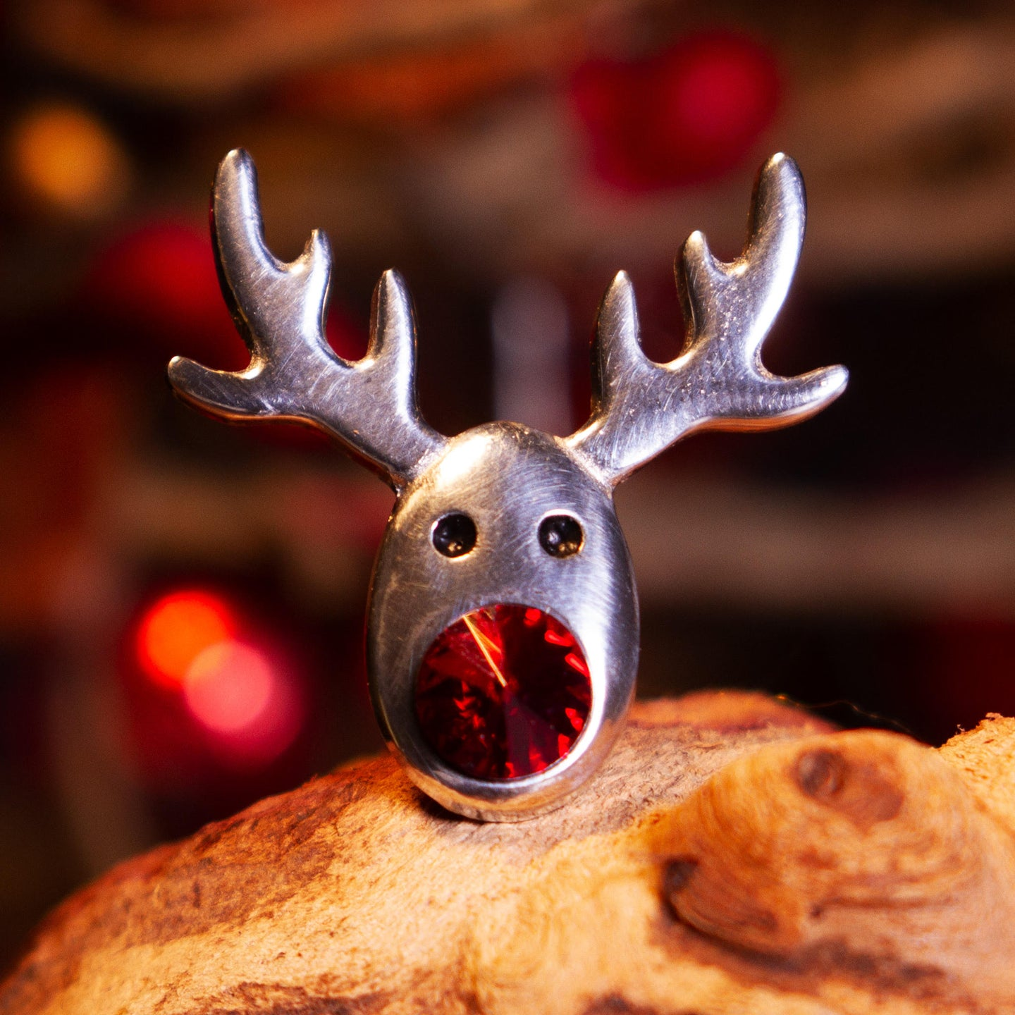 Rudolph Crystal Lapel Pin