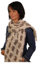 Load image into Gallery viewer, Weimaraner Scarf - Mike Sibley Weimaraner Design Ladies Fashion Scarf - Hand Printed In The UK