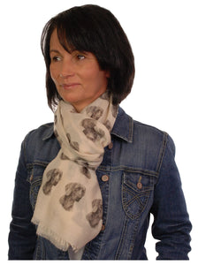 Weimaraner Scarf - Mike Sibley Weimaraner Design Ladies Fashion Scarf - Hand Printed In The UK