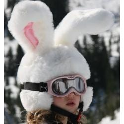 White Bunny Headztrong Helmet Cover