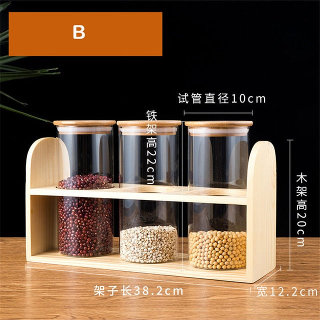 Wooden Coffee Beans Display Rack