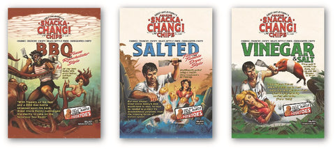 Set of 3 Snackachangi Posters