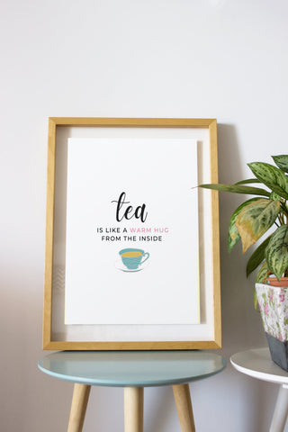 8 Printable Tea Quotes - Wall Art