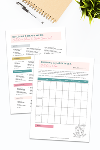 Printable Self Care Planner Worksheets (2 pages)
