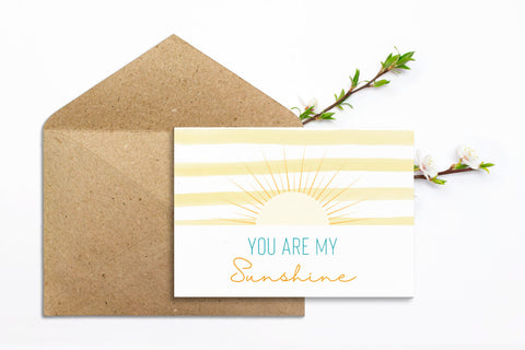 You Are My Sunshine Printable Greeting Card