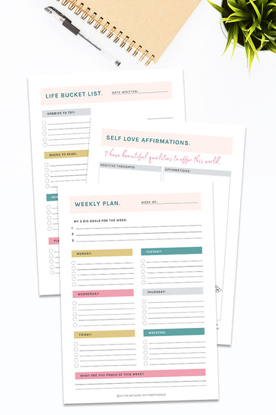 Printable Personal Growth Planner & Journal (460+ pages)