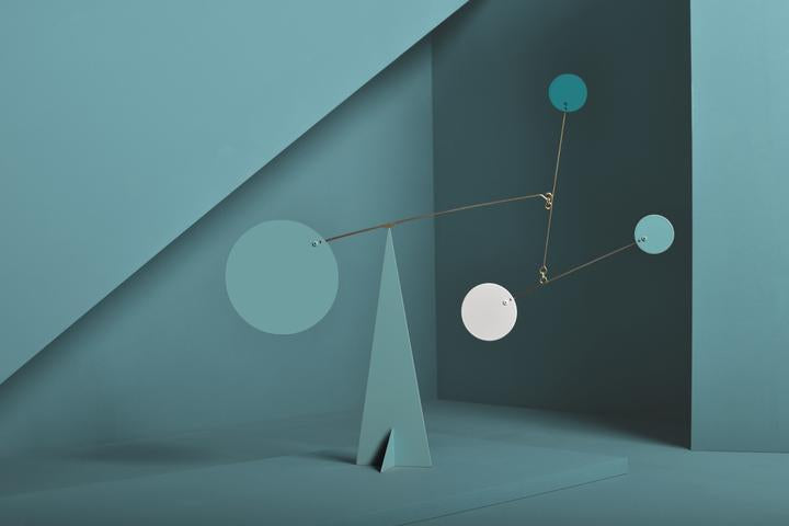 Turquoise Standing Mobiles