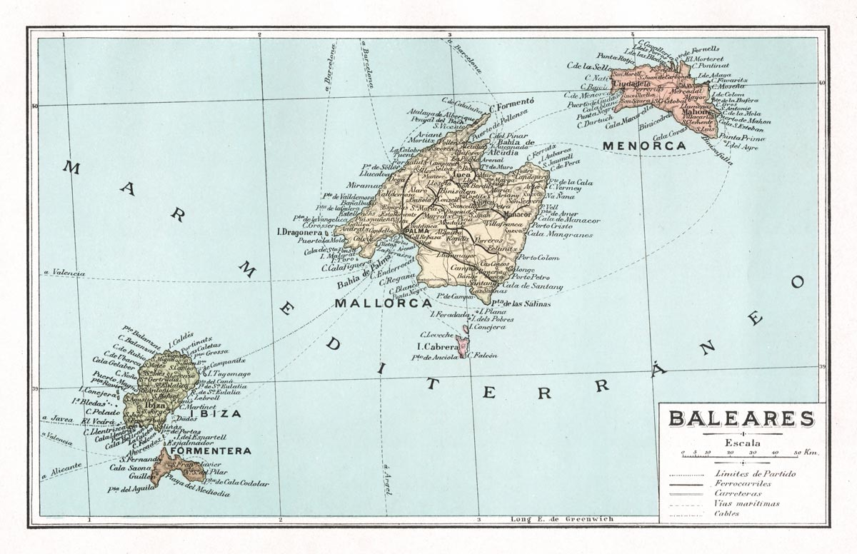Baleares Map