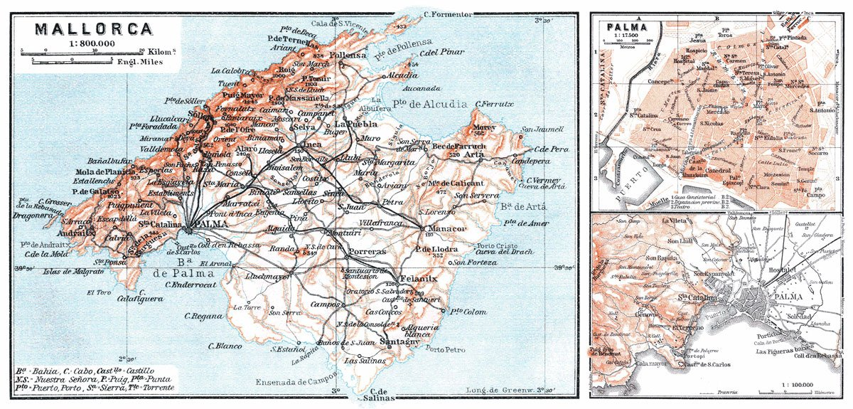 Mallorca Palma Triple Map