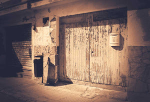 Garage Door Sepia | Photo Art