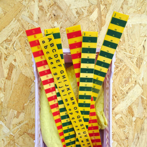 Striped Recycled Rulers