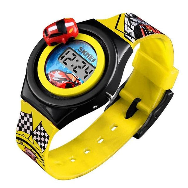 New Cartoon Car Children's Watch Fashion Digital Electronic