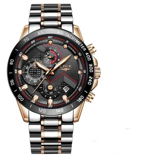 New Mens Watches with Stainless Steel Top Brand Luxury Sports