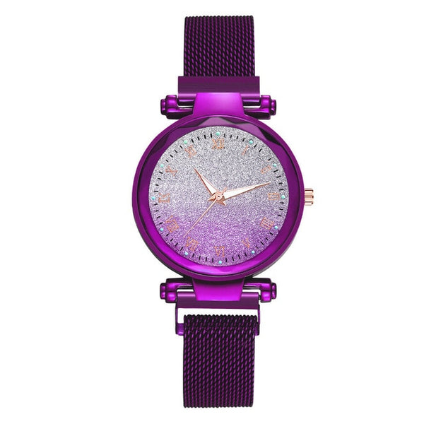 2020 Starry Sky Watch Women's Luxury Magnetic Magnet Buckle Quartz Wristwatch Surface Female Luminous Watches relogio feminino