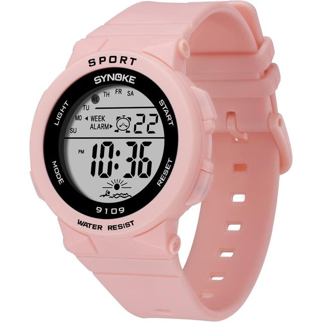Band Watches For Kids Girls 50M Waterproof Digital Electronic Watch