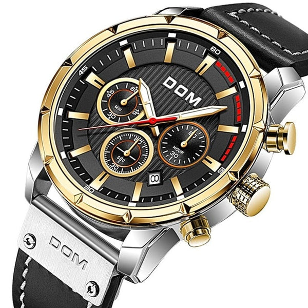 Sport Watches for Men Top Brand Luxury Military Leather Wrist Watch