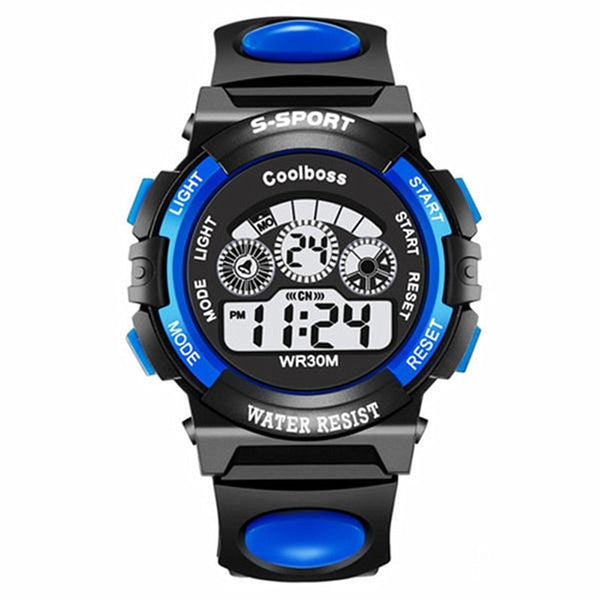Children Sport Watches Silicone Strap Waterproof LED Digital