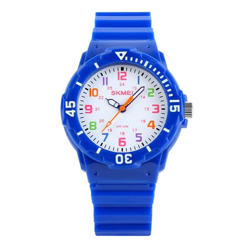 Kids Quartz Watches 50M Waterproof Analog Wristwatches