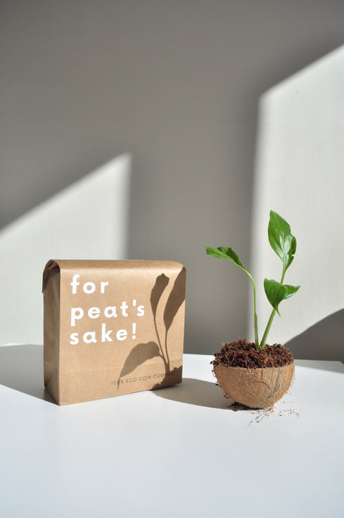 for peat's sake! eco coir compost sustainable soil