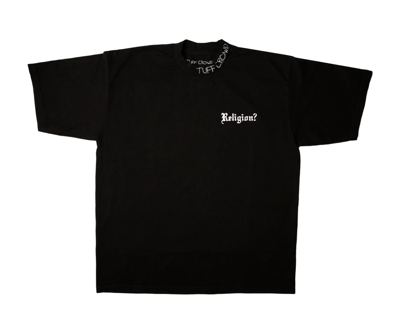 "'' RELIGION ? "" BLACK T-SHIRT"