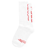 """TUFF CROWD"" HOSTILE TERRITORY SOCKS- WHITE/RED"
