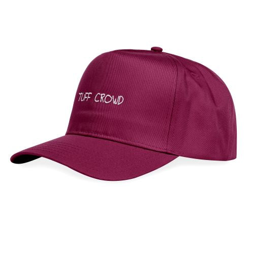 """TUFF CROWD"" HAT- BURGUNDY"