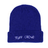 """ TUFF CROWD "" BLUE BEANIE"