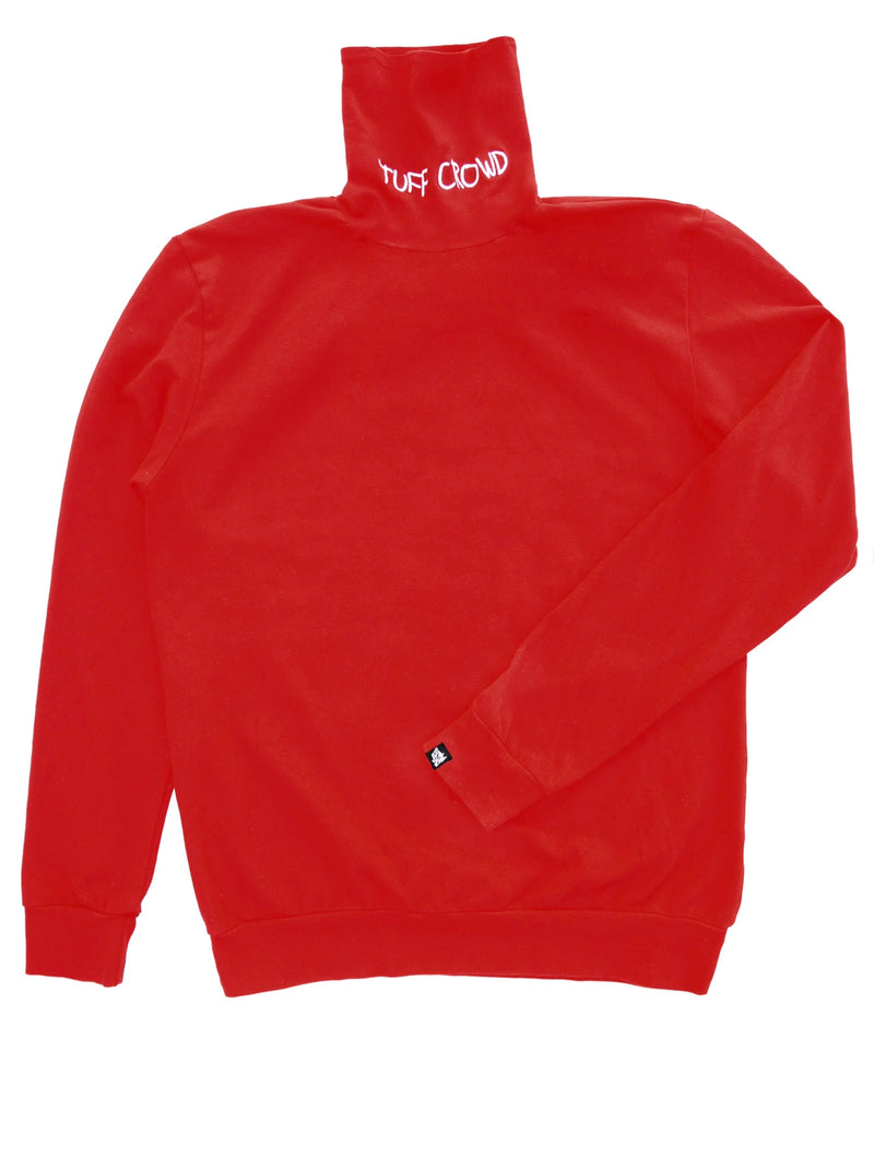 '' Tuff Crowd '' RED Turtle Neck