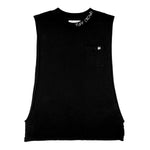 """TUFF CROWD"" INSIDE OUT VERT TANK BLACK"