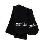 """TUFF CROWD"" HOSTILE TERRITORY SOCKS- BLACK"