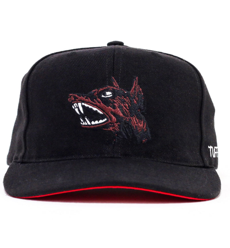 "DOBERMAN ""CUT & SEW"" BLACK HAT ( BROWN DOG)"