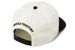 "OLD ENGLISH "" CUT & SEW '' OFF WHITE HAT ( BROWN )"