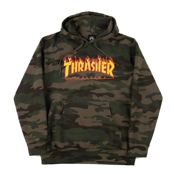 Sweater - Thrasher Flame Logo Camo